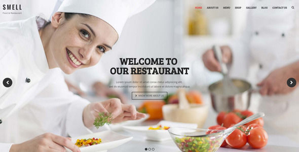 Smell by Kayapati (WordPress theme for bakeries, cafes and food retail stores)