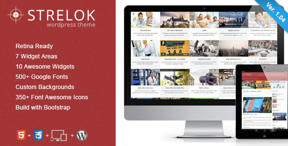 Strelok by ZERGE (WordPress theme with infinite scrolling)