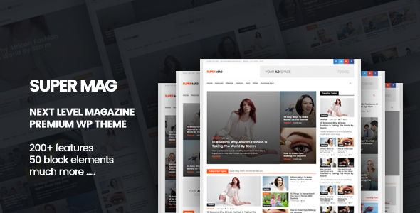Super Mag by Geniuspro (magazine WordPress theme)