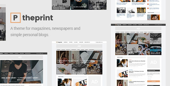 The Print by Grovepixels (WordPress theme with infinite scrolling)