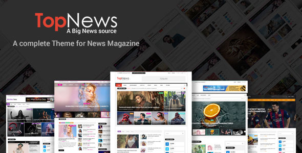 TopNews by Codexcoder (magazine WordPress theme)