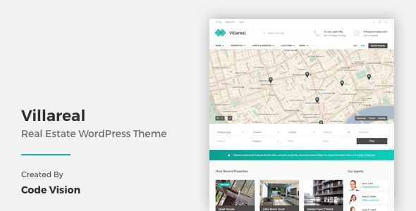 Villareal by CodeVisionThemes (real estate and realtor WordPress theme)