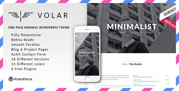 Volar by FRESHFACE (multi-purpose WordPress theme)