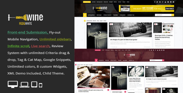 Wine Masonry by An-Themes (WordPress theme with infinite scrolling)