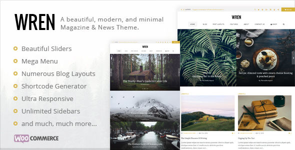 Wren by Themestockyard (magazine WordPress theme)