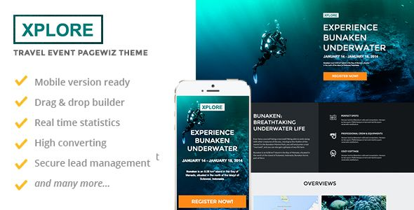 XPLORE by Slidehack (landing page template for PageWiz)