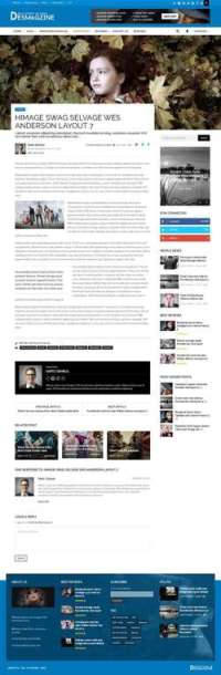 DesMagz - WordPress Multiconcept Magazine Theme