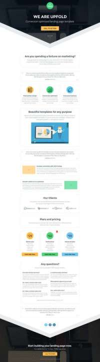 Pagewiz Multi-Purpose Landing Page Template UpFold