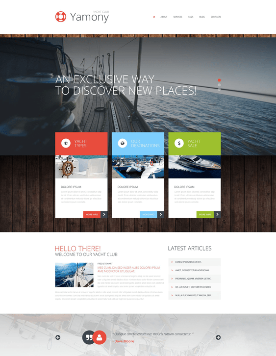 boating sports wordpress themes