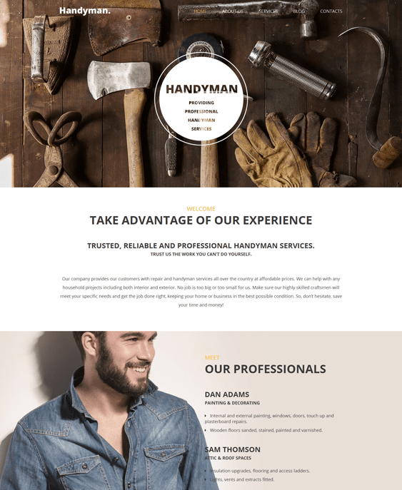 handyman construction companies building contractors wordpress themes