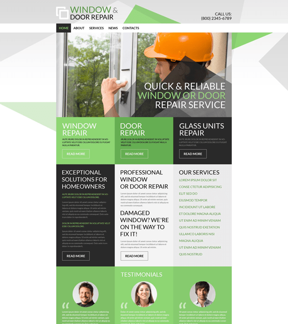 home construction companies building contractors wordpress themes