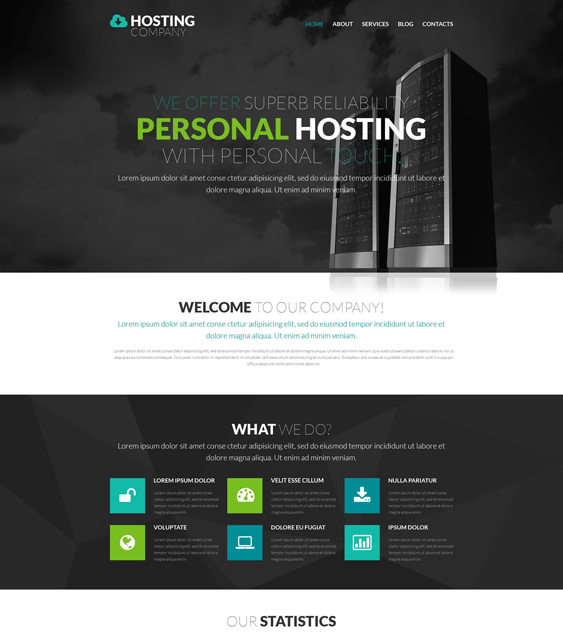 web hosting wordpress themes provider
