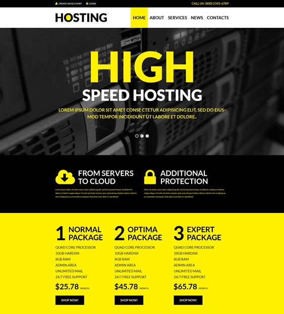 web hosting wordpress themes solutions