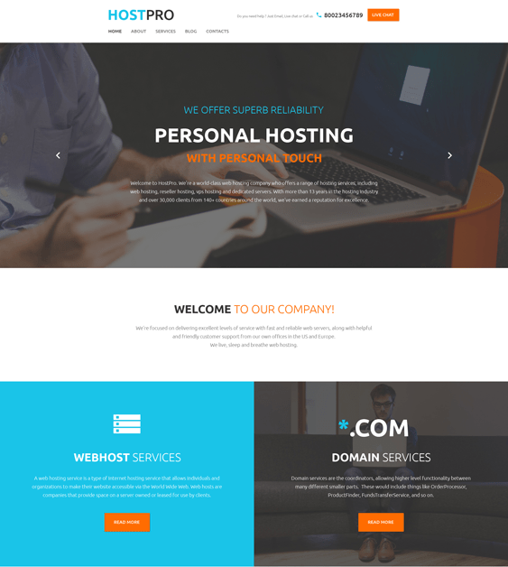 hostpro web hosting wordpress themes