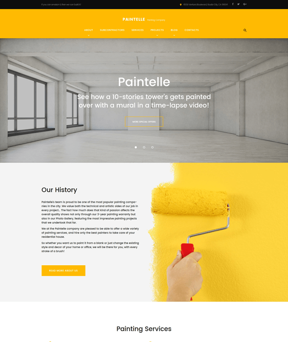 paintelle construction companies building contractors wordpress themes