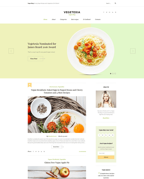 6 of the best wordpress themes for cooking recipe websites buildify vegetarian cooking recipe wordpress themes forumfinder Image collections