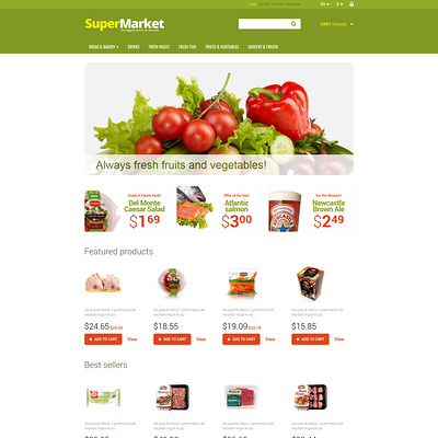 A Bit of Everything PrestaShop Theme (PrestaShop theme for food stores) Item Picture