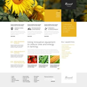 Agriculture Company WordPress Theme (farming and agricultural WordPress theme) Item Picture