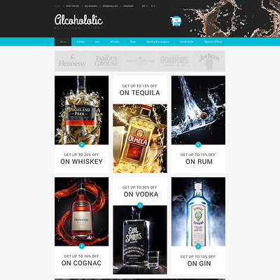 Alcoholic Beverages Store PrestaShop Theme (PrestaShop theme for liquor, alcohol, beer, and wine stores) Item Picture
