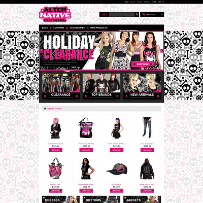 Alternative Clothing Store PrestaShop Theme (PrestaShop theme for womens clothing) Item Picture