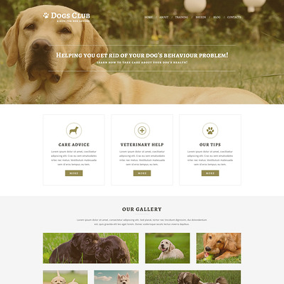 Animals Pets Joomla Template (Joomla template for websites about pets and animals) Item Picture