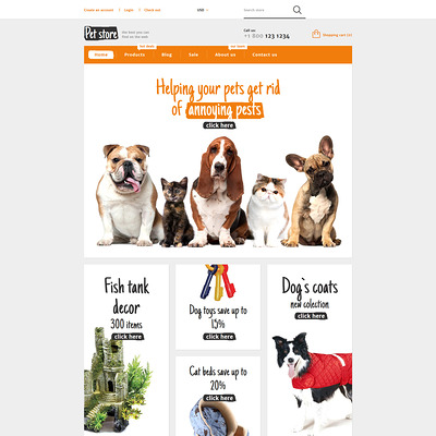 Animals Pets Shopify Theme (Shopify theme for animals and pets) Item Picture