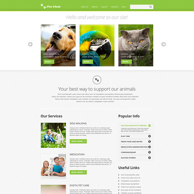 Animals & Pets Responsive Joomla Template (Joomla template for websites about pets and animals) Item Picture