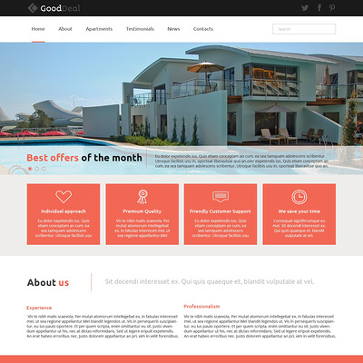 Apartments for Rent Joomla Template (Joomla theme for real estate) Item Picture
