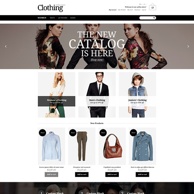 Apparel Responsive Magento Theme (Magento theme for mens and womens clothing) Item Picture