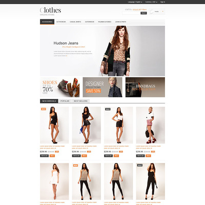 Apparel Store PrestaShop Theme (PrestaShop theme for womens clothing) Item Picture