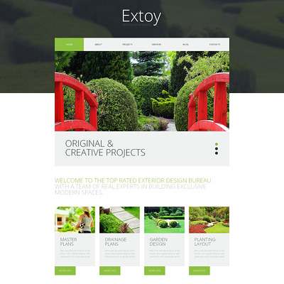 Art of Building WordPress Theme (WordPress theme for landscapers and gardeners) Item Picture