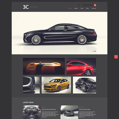 Auto Enthusiasts Club Joomla Template (Joomla template for car, vehicle, and automotive websites) Item Picture
