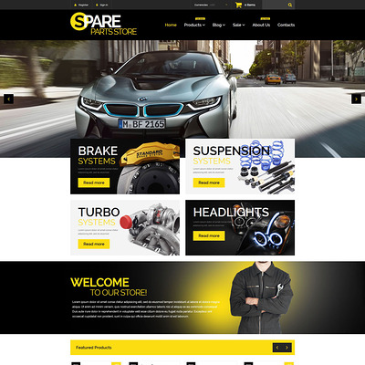 Auto Parts Responsive Shopify Theme (Shopify theme for car, vehicle, and automotive stores) Item Picture