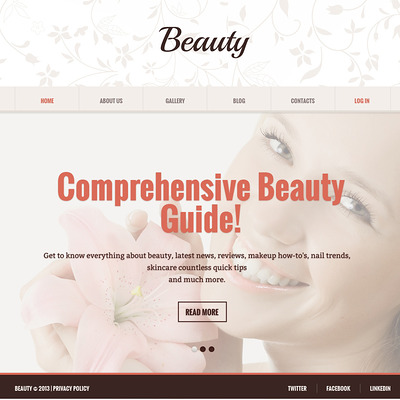 Beauty Salon Responsive Joomla Template (Joomla template for spas and beauty salons) Item Picture