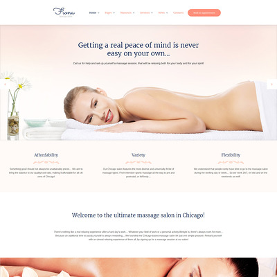 Beauty Spa & Massage Salon Responsive WordPress Theme (WordPress theme for hair and beauty salons and spas) Item Picture