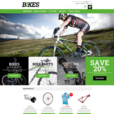Bikes Magento Theme (Magento theme for sports stores) Item Picture
