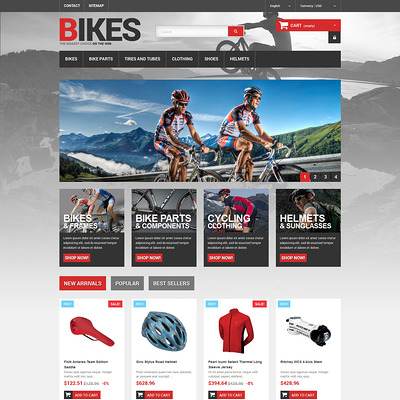 Bikes Store PrestaShop Theme (PrestaShop themes for bicycles and cycling equipment) Item Picture