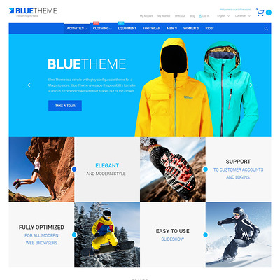 Blue Magento Theme (Magento theme for sports stores) Item Picture