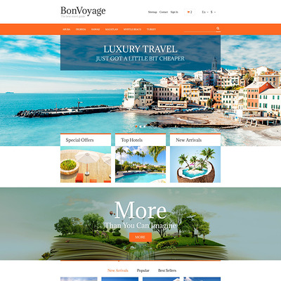 BonVoyage PrestaShop Theme (PrestaShop themes for travel and tourism companies) Item Picture