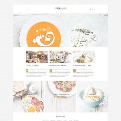 Cafe and Restaurant WordPress Theme (WordPress theme for restaurants) Item Picture