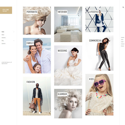Callum (WordPress theme for wedding professionals) Item Picture