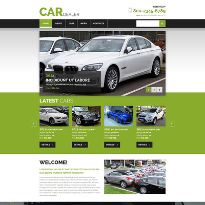 Car Dealer Joomla Template (Joomla template for car, vehicle, and automotive websites) Item Picture