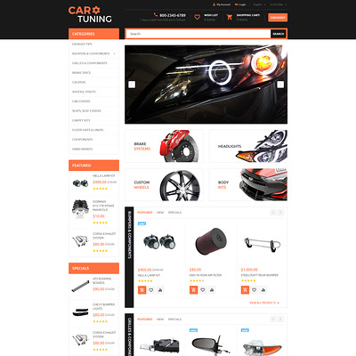 Car Tuning OpenCart Template (OpenCart theme for automotive, car, and vehicle stores) Item Picture