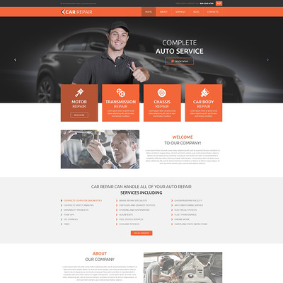 Cars and Bikes WordPress Theme (WordPress theme for car, vehicle, and automotive websites) Item Picture