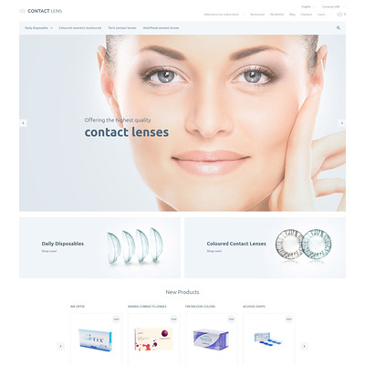 Clear Vision Magento Theme (Magento theme for medical and health stores) Item Picture