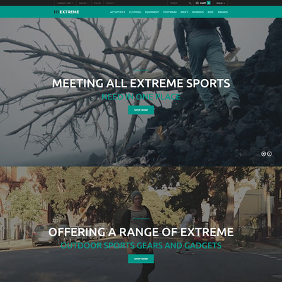 Clothing for Extreme Sports PrestaShop Theme (PrestaShop theme for sports stores) Item Picture