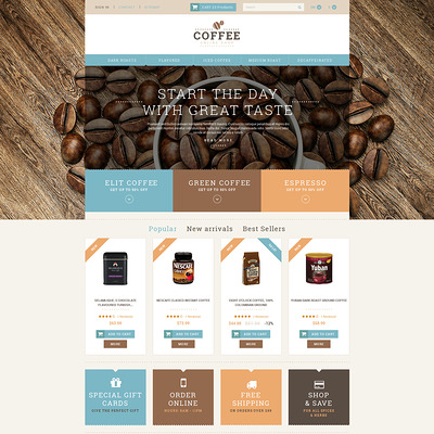 Coffee Shop Responsive PrestaShop Theme (PrestaShop theme for tea and coffee) Item Picture