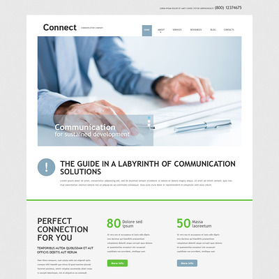 Communication Services Joomla Template (Joomla template for internet providers and communications companies) Item Picture