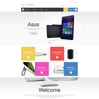Compex Magento Theme (Magento theme for computers and hardware) Item Picture