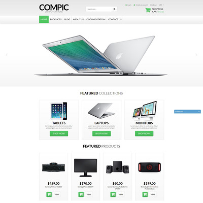 Computer Hardware Shopify Theme (Shopify theme for electronics stores) Item Picture